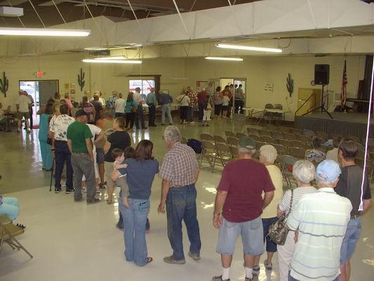 Food line for Celia's Garden Fundraising