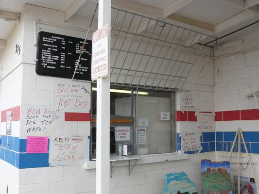 Concession Stand ready for opening day of the Powwow!
