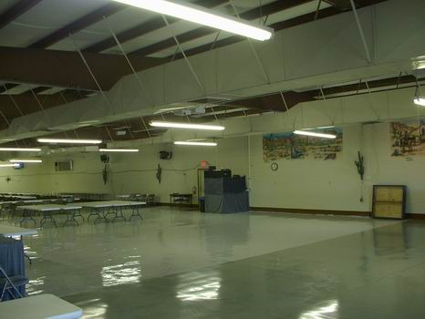 Dance area with stage