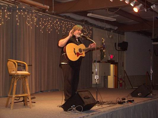 Jimmy Jack having fun with the audience at the QIA