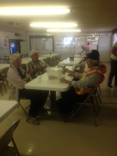 Powwow Volunteers taking a well deserved break