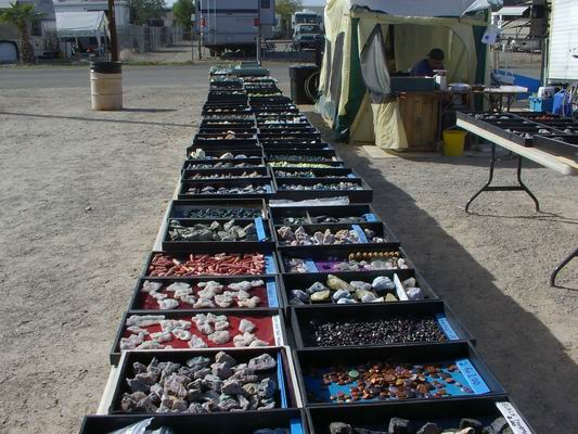 Lots of Beautiful Stones for Sale at the POWWOW
