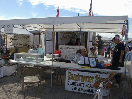 Quartzsite Roadrunner Rock & Gem Club Booth