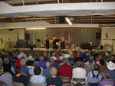 Three Sisters Performing at Rock Club Fundraising