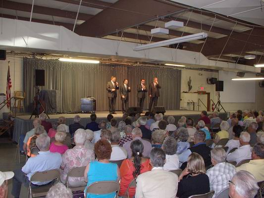 Great crowd for the Blackwood Brothers Concert