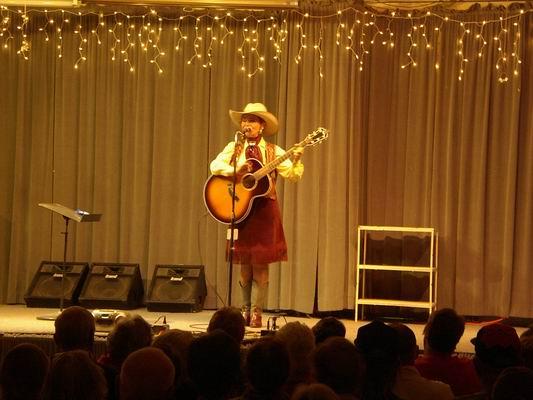 Belinda Gail on Stage at the QIA