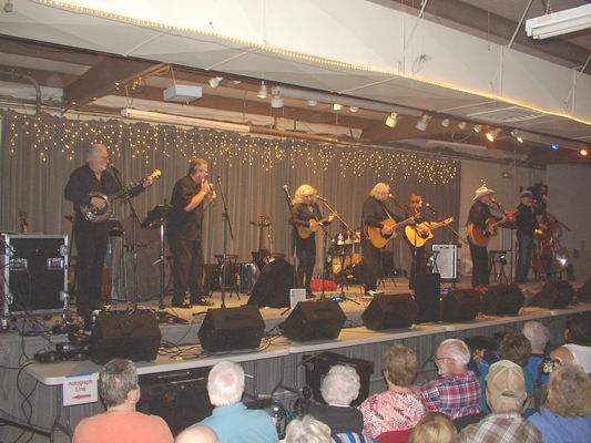 The New Christy Minstrels performing at the QIA